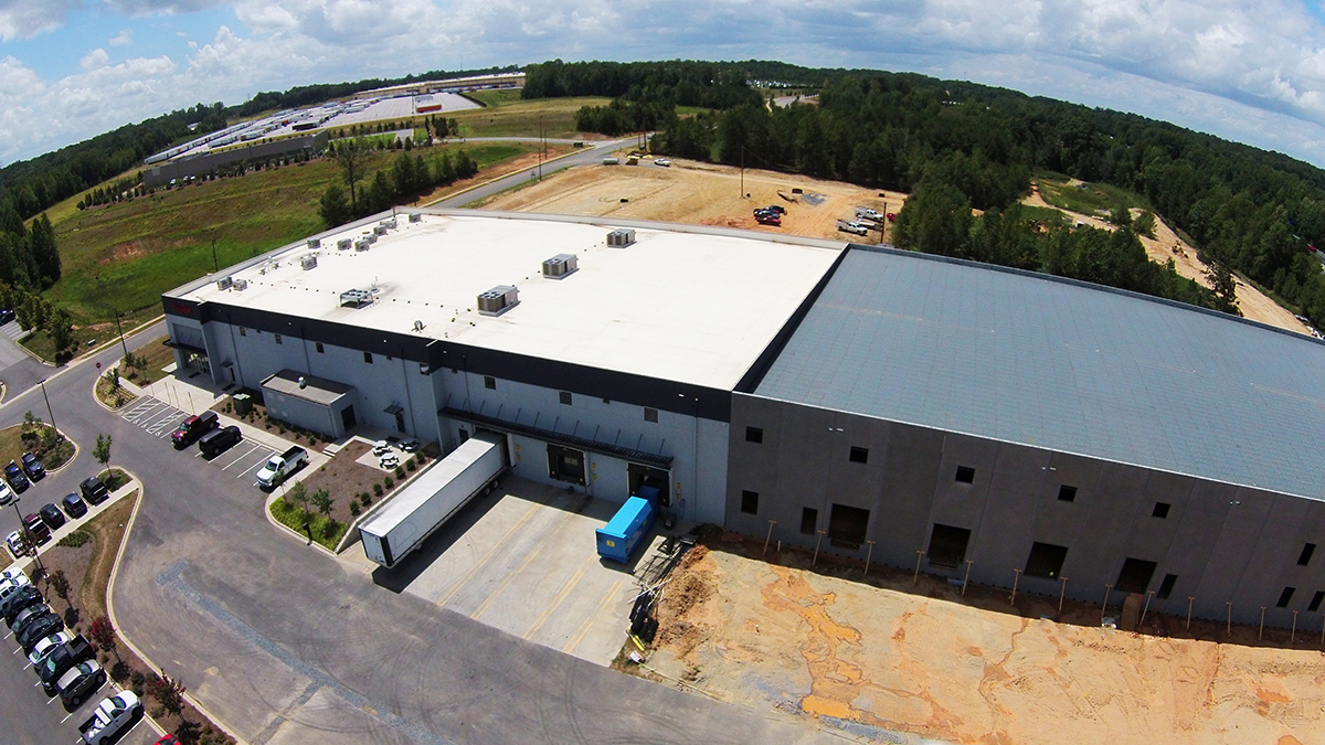 Coroplast Aerial JM Cope Rock Hill South Carolina General Contractor Construction Program Management Manager CM At Risk Design Bid Build General Contracting CM Agency Commercial Education Interiors Faith Based Churches Historic Tax Credit Hospitality Industrial Manufacturing Interiors Medical Office Municipal